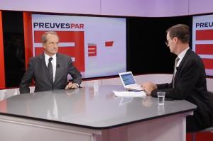 TOURNAGE DE L'EMISSION 'PREUVE PAR 3' - GERARD LONGUET